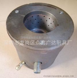 商用燃气专用生铁炉头炒炉专用带火种炉芯 4寸中心火种炉头