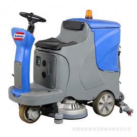 驾驶式洗地机|工厂车间洗地机|地下车库环氧地坪驾驶式洗地车