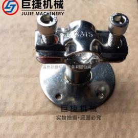 不锈钢带盘管支架 304冲压管支架 不锈钢管夹