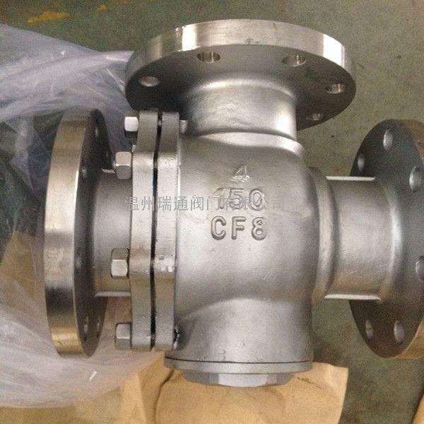 Q45F不锈钢三通球阀