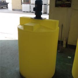 凯里100L耐酸碱加药箱 带搅拌机的搅拌桶PE