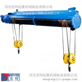 1吨钢丝绳电动葫芦 双钩钢丝绳电动葫芦报价 东特起重