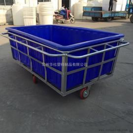 石首K1500L方形周转桶纺织推布车牛筋桶批发价格