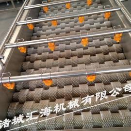 汇海机械通过式毛辊清洗机芋头去皮清洗