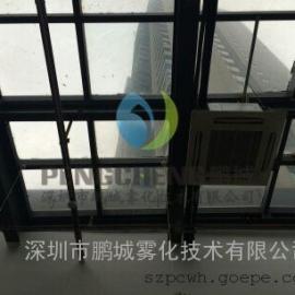 公园喷雾降温设备|空调主机冷雾降温工程|冷雾机