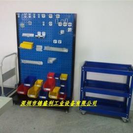 单面工具架,单面移动式工具架,单面百叶挂板车,深圳工具架
