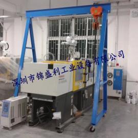 深圳龙门架厂家,重型2吨龙门吊架,手拉式移动带刹车龙门架