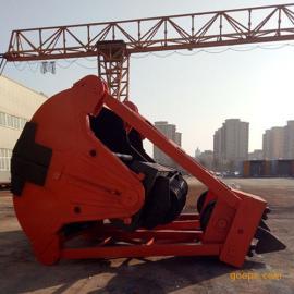 U49重型2立方四绳抓斗 锰钢斗齿抓斗 洗煤厂废渣抓具