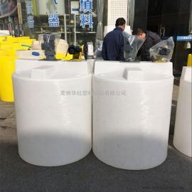 泗阳1000L防腐蚀塑料搅拌罐圆形加药箱搅拌桶防腐计量罐