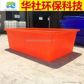 宜兴1100L方形周转桶纺织桶推布车5mm牛筋材质