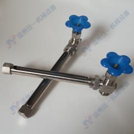 定制不锈钢单接口外丝玻璃管液位计 L型玻璃管水位计 油位计