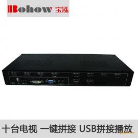 宝泓BH-TV0110高清多信号10台电视拼接器|电视拼接盒