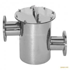 304不锈钢毛发收集器 过滤器 游泳池水处理设备 隔发器 法兰收集�