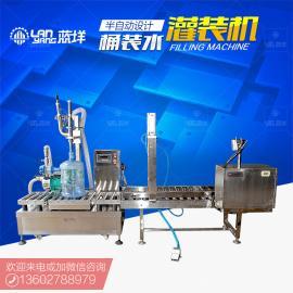 半自动小型桶装水灌装机矿泉水生产线设备加工厂家直销