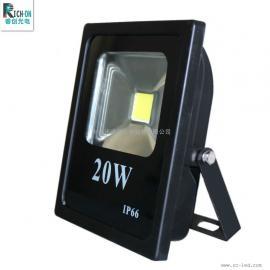 20W投光灯,长方形系列厚料高亮集成LED投射灯