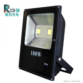 100W投光灯,长方形系列厚料高亮集成LED投射灯