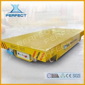 河南钢包铸件钢包搬运车帕菲特车间轨道电动平板车20吨现货供应