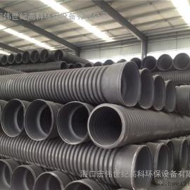 白�R井HDPE�p壁波�y管