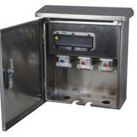 户外防水插座配电箱 不锈钢工业插头插座基业箱