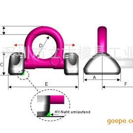 德国RUD固定螺栓式起重吊环VRBG-10|RUD索具