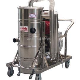 高速抢修用无需电源引擎驱动工业吸尘器 高速接缝清理碎渣吸尘器