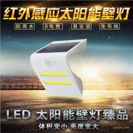 LED太阳能灯户外壁灯防水超亮led草坪灯家用庭院灯