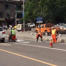 重庆北碚专业划线施工公司 道路路面标线价格