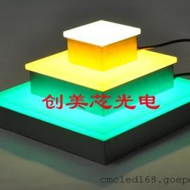 七彩地砖灯