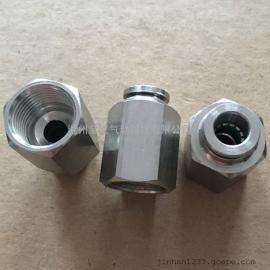 不锈钢快插直通管接头PCF