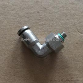 不锈钢M螺纹气动快插弯头/PL4-M5气源弯头现货