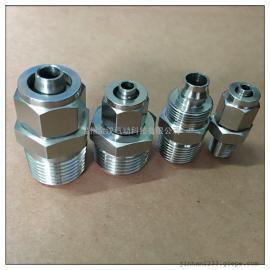 不锈钢快拧端直通1/4-10*6.5