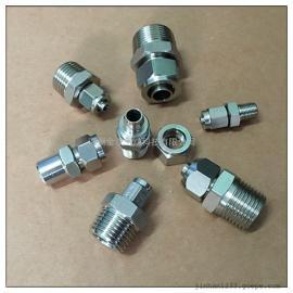 不锈钢304/316PU软管锁母接头/快拧直通终端外丝接头