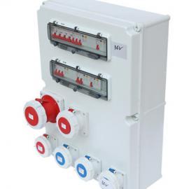 PC螺钉型挂角插座箱 IP65工业防水组合电控箱