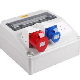 螺钉移动工业插座箱 成套PC合金电源箱挂角固定
