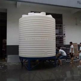 华社 滚塑定制加厚塑料水箱聚羧酸复配设备合成母液罐一次成型 15T