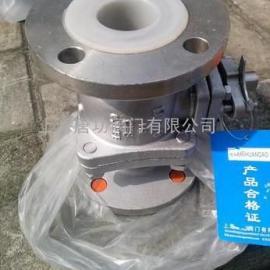 唐功Q41F46-16P衬氟不锈钢球阀 全耐腐蚀衬氟球阀