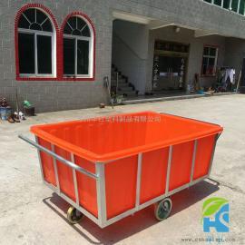 怀宁K1500L塑料方形周转箱布草车牛筋桶厂家定做