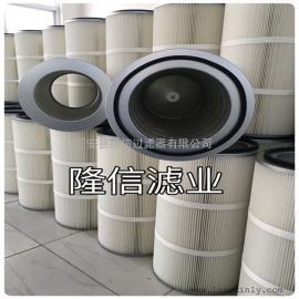 厂家销售空压机进气系统专用滤筒PTFE覆膜除尘滤芯可水洗
