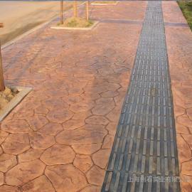 艺术压花地面 水泥压花地坪 混凝土压模地坪