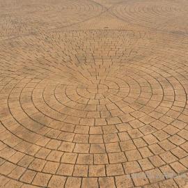 混凝土压花地面 压模地坪 彩色压模路面