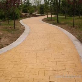 艺术压膜地面 水泥压膜路面 混凝土压膜地坪