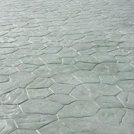 水泥压花路面 彩色压模混凝土 压膜地坪