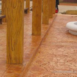 彩色混凝土压花水泥压模混凝土压印地面