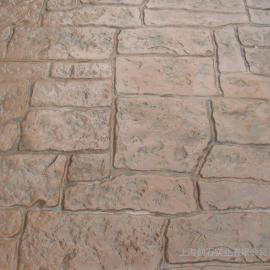 仿石混凝土 彩色压膜地坪 艺术压花地坪