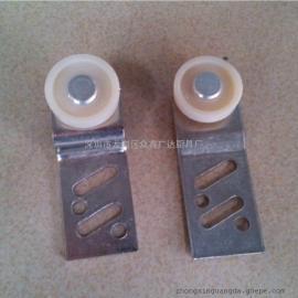 供应厨具配件 不锈钢胶吊辘 不锈钢吊轮片 胶辘吊轮