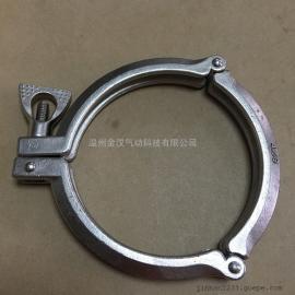 不锈钢三节卡箍/304精铸卡箍/快装三节卡箍