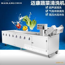 厂家供应全不锈钢蔬菜清洗机丨气泡臭氧洗菜机