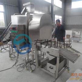 全自动不锈钢鸡米花滚筒式裹粉机厂家有为机械 热荐专业上粉机