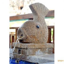 喷泉鱼雕刻厂家 汉白玉小鱼雕刻价格 美人鱼雕塑定制