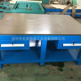 深圳钢板工作台、带抽屉钢板桌、工作台厂家
